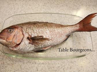 メインはお魚メニュー
