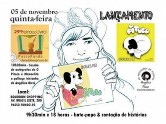 Angélica Rizzi participa da 29ª Feira do Livro de Passo Fundo - Dia 05/11 (quinta-feira)