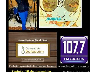 Angélica Rizzi no programa 'Conversa de Botequim'