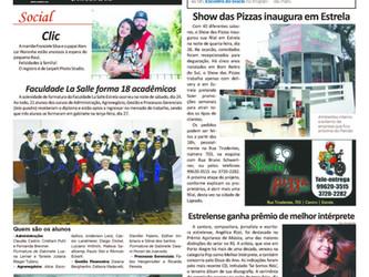 Jornais de Estrela destacam Prêmio Açorianos de Música conquistado por Angélica Rizzi