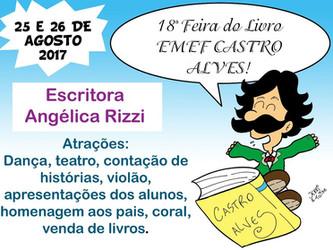Angélica Rizzi é autora homenageada da Feira do Livro da EMEF Castro Alves de Cachoerinha