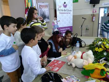 Angélica Rizzi participou da 28ª Feira do Livro de Caçapava do Sul