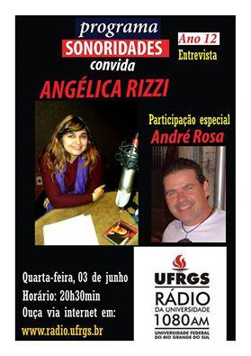 O programa Sonoridades desta quarta (03) traz entrevista com a cantora, compositora, jornalista e es