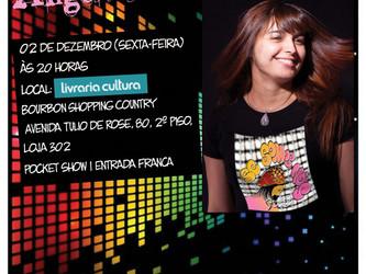 Angélica Rizzi faz show de lançamento nesta sexta 02 de dezembro