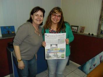 Angélica Rizzi visita sua cidade Natal: Estrela-RS