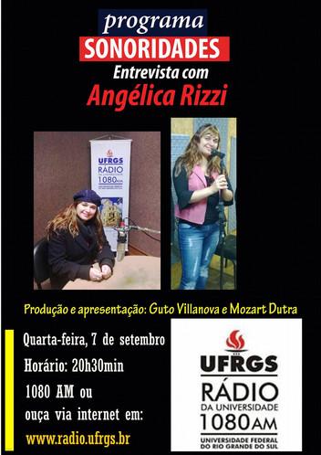 Angélica Rizzi é destaque do programa Sonoridades
