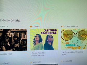 Angélica Rizzi é destaque no site da GRV