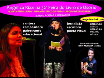 Angélica Rizzi participa da 32ª Feira do Livro de Osório