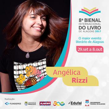 Angélica Rizzi é autora convidada da 8ª Bienal Internacional do Livro de Alagoas