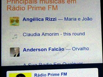 Canção 'Maria e João' de Angélica Rizzi entre as principais da programação da Rádio PRIME FM