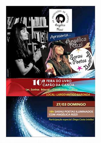 Angélica Rizzi apresenta Sarau Poetas Iluminados na 10ª Feira do Livro de Capão da Canoa