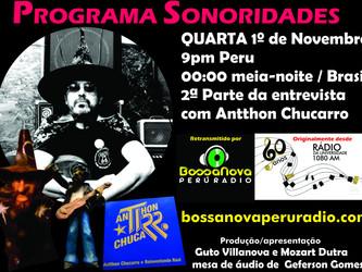 Sonoridades na Bossa Nova Perú Radio nesta quarta à meia-noite