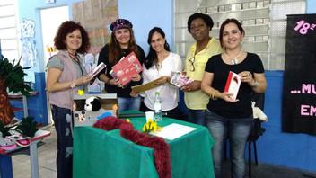 Angélica Rizzi é autora homenageada na EMEF Castro Alves