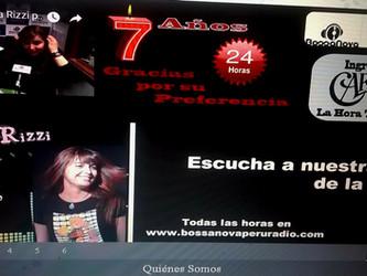Angélica Rizzi é a artista da semana na Bossa Nova Peru Radio