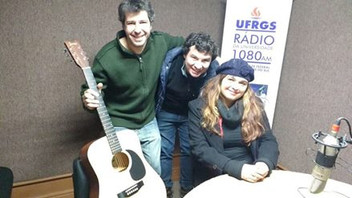 Angelica Rizzi na Rádio da Universidade UFRGS