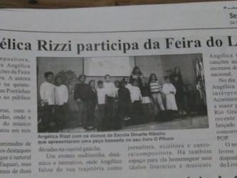 Angélica Rizzi em destaque no jornal Gazeta de Caçapava