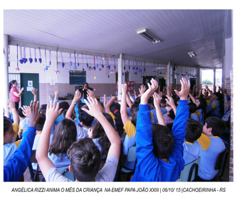 Angélica Rizzi visita Escola Municipal Papa João XXIII