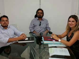 Registrador Figueiró faz reunião com Procuradora Municipal