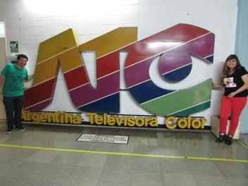 Angélica Rizzi visita a TV Pública Argentina