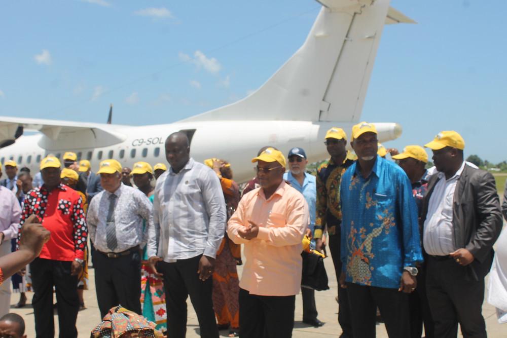 Cerimonia de reabertura do aeródromo de Mocímboa da Praia