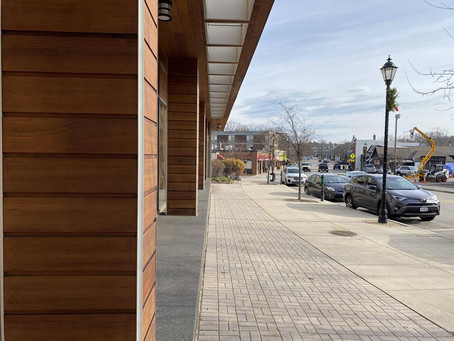 Commercial Wood Panel Staining Project in Wellesley, MA