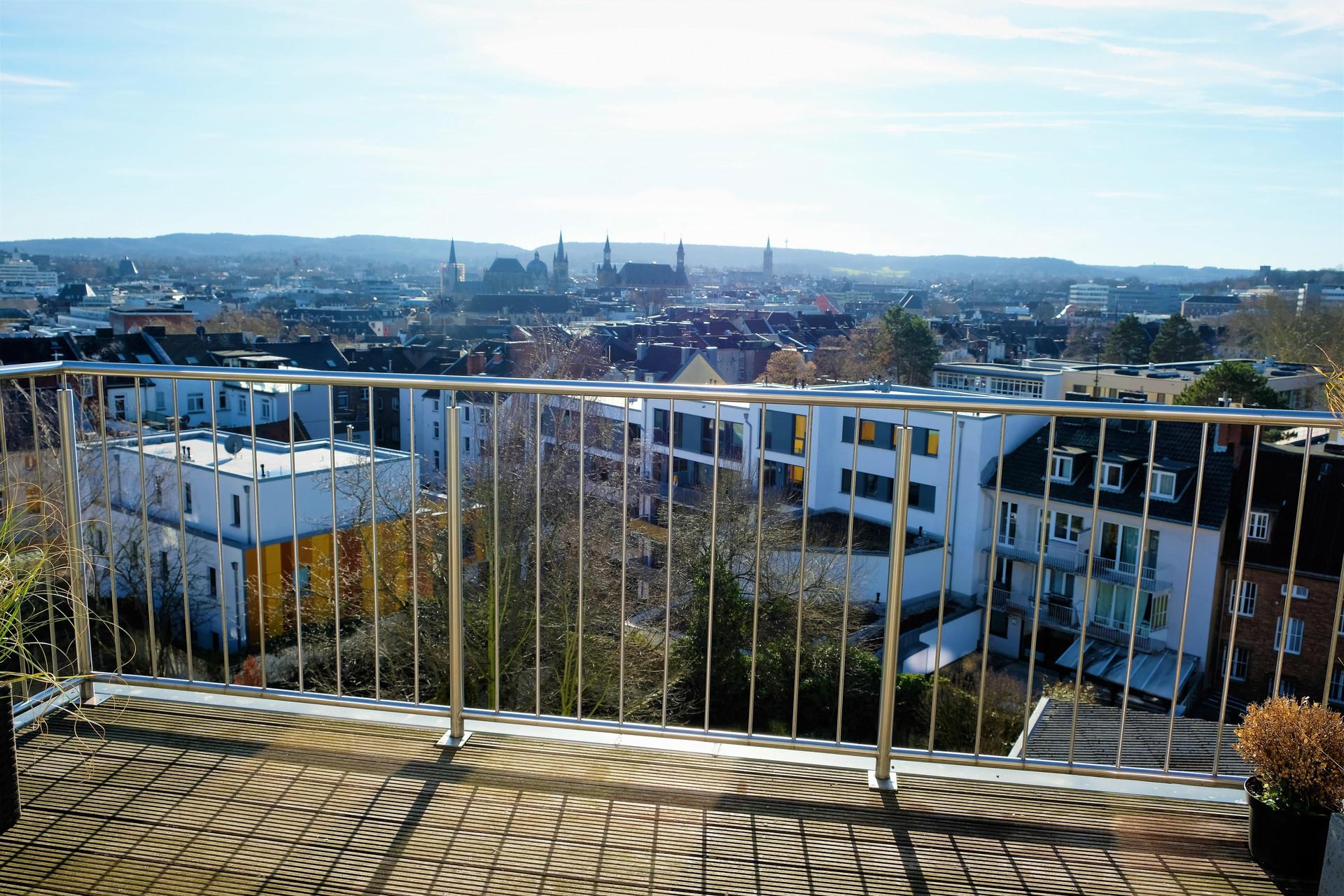 Maisonette-Wohnung mit Panoramablick über die Aachener Innenstadt I Aachen-Stadtpark