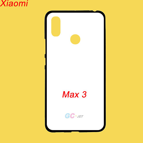 Xiaomi Max3 tpu soft mobile cases with white printable coating