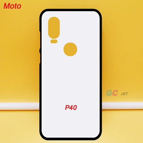 Moto P40 flexible tpu mobile case ,blank ,printable ,white back for printing