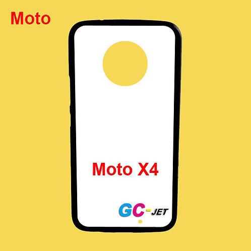 Moto X4 black edge and white printable back tpu soft phone case