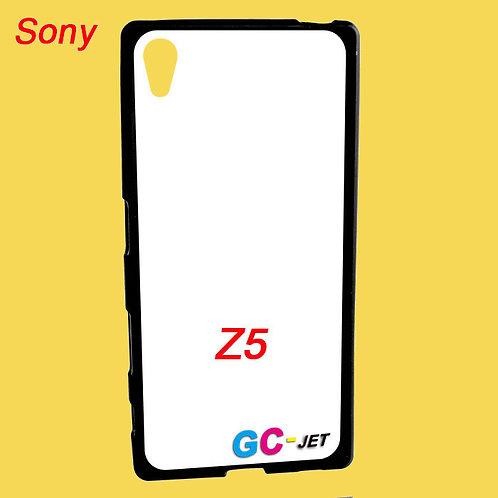 Sony Z5 black edge and white printable back tpu soft phone case