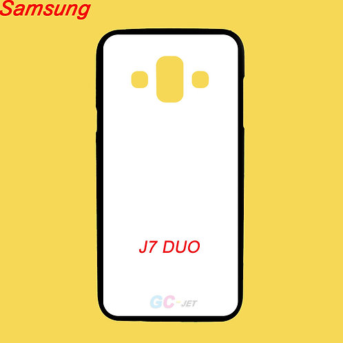 Samsung galaxy J7 DUO soft tpu phone case black printable