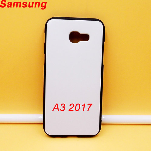 Galaxy A3 2017 black side white back printable tpu soft phone case