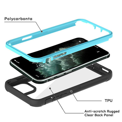 2 in 1 Anti-drop full protective phone cover case for iPhone 11 pro max