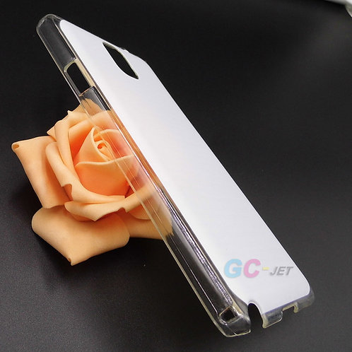 Galaxy Note 3 blank transparent cell phone case for eco sovlent flatbed printer
