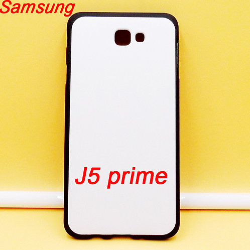Samsung Galaxy J5 Prime black edge and white printable back tpu soft phone case