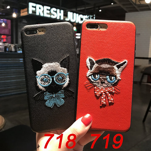 Embroidered pattern iPhone 6/78/X tpu soft case 718/719