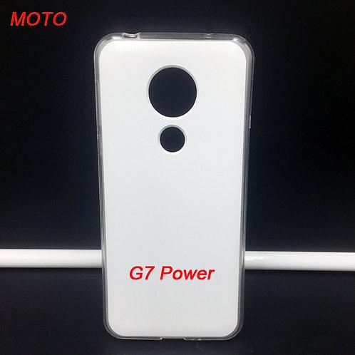 Moto G7 power flexible transparent mobile phone case for custom printing