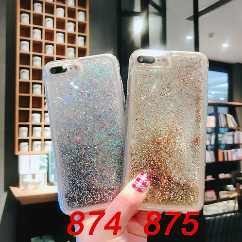 iPhone 6/6 plus/7/7 plus/X tpu case with flashy sand 874/875