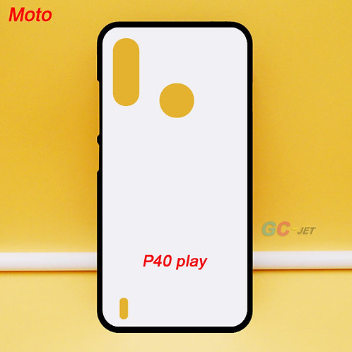 Moto P40 play soft tpu mobile phone case ,blank ,printable ,white back for diy p