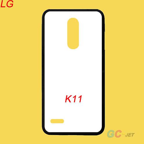 LG K11 tpu flexible phone case with white printable coated back