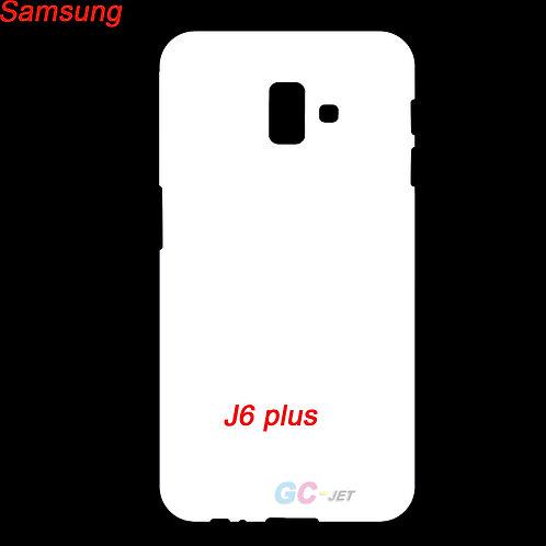 Samsung galaxy J6 plus printable white phone cover case