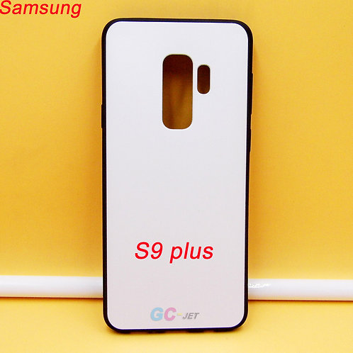 Galaxy S9 plus black side soft tpu phone case with white printable back