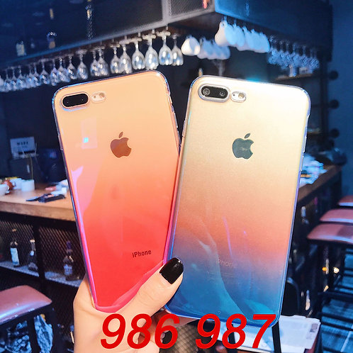 iPhone 6/7/X tpu soft case with laser pattern 986 987