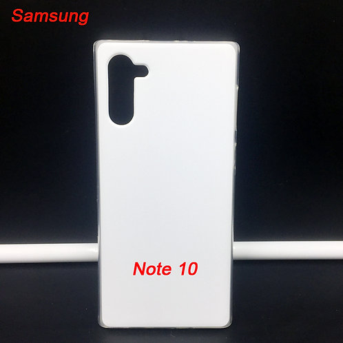 Samsung galaxy note 10 printable soft phone case , transparent side white back