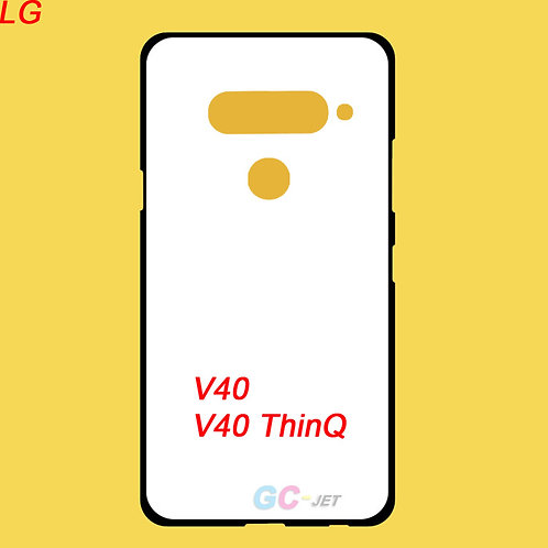 LG V40 Thinq blank tpu phone cover with white printable coating back
