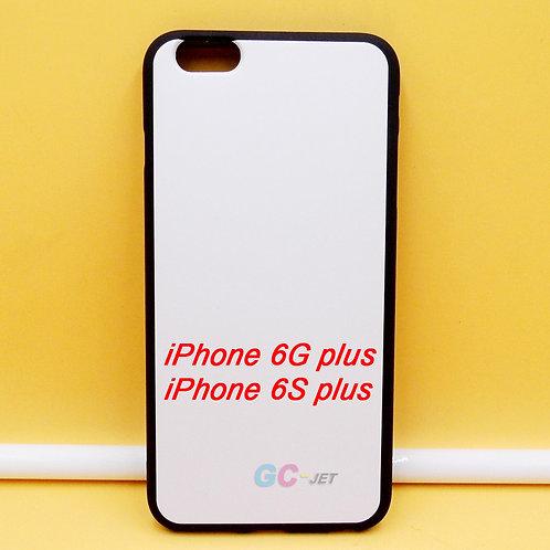iPhone 6 plus black tpu phone case printable with white coating