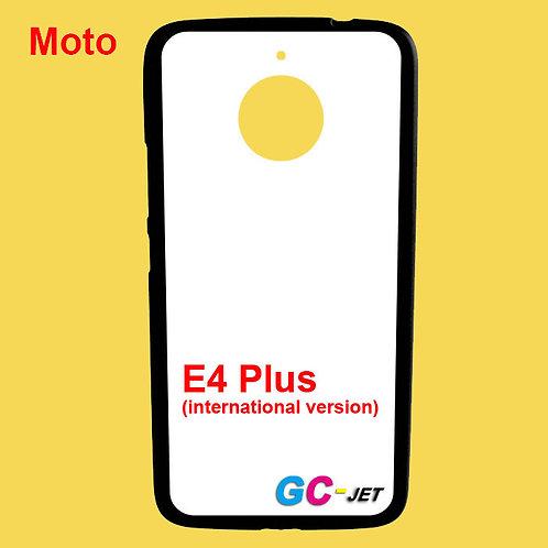 Moto E4 Plus black printable phone case with white coating soft tpu
