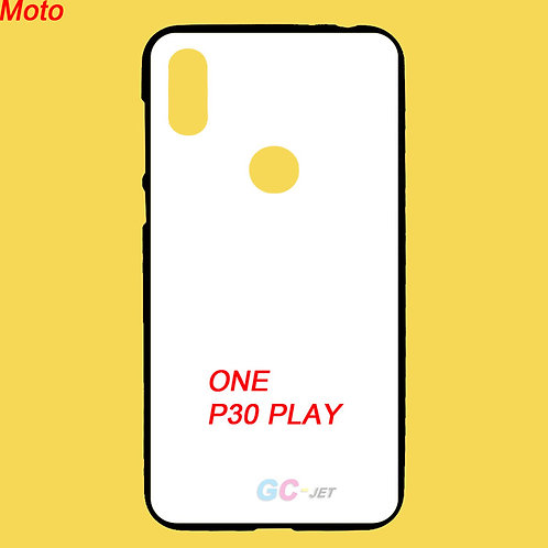 Moto one / P30 play black side tpu phone case with white printable back