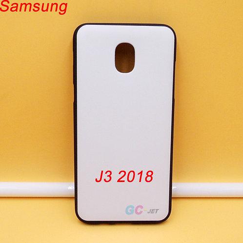 Galaxy J3 2018 tpu phone case black side and white printable back