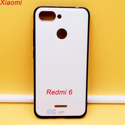 Redmi 6 black side white printable back tpu soft phone cover case